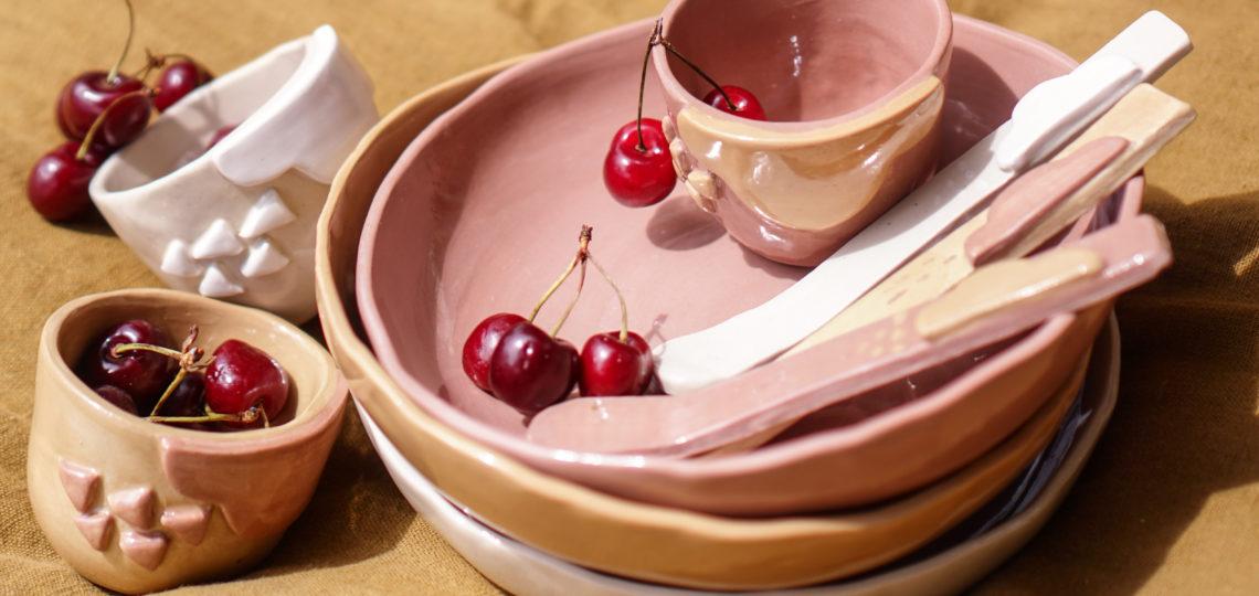 set ceramique cerise