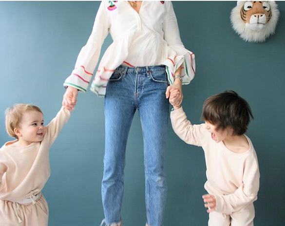 Julie, maman d'Armand, 6 ans et Marni 2 ans – Fondatrice de m a p i e l